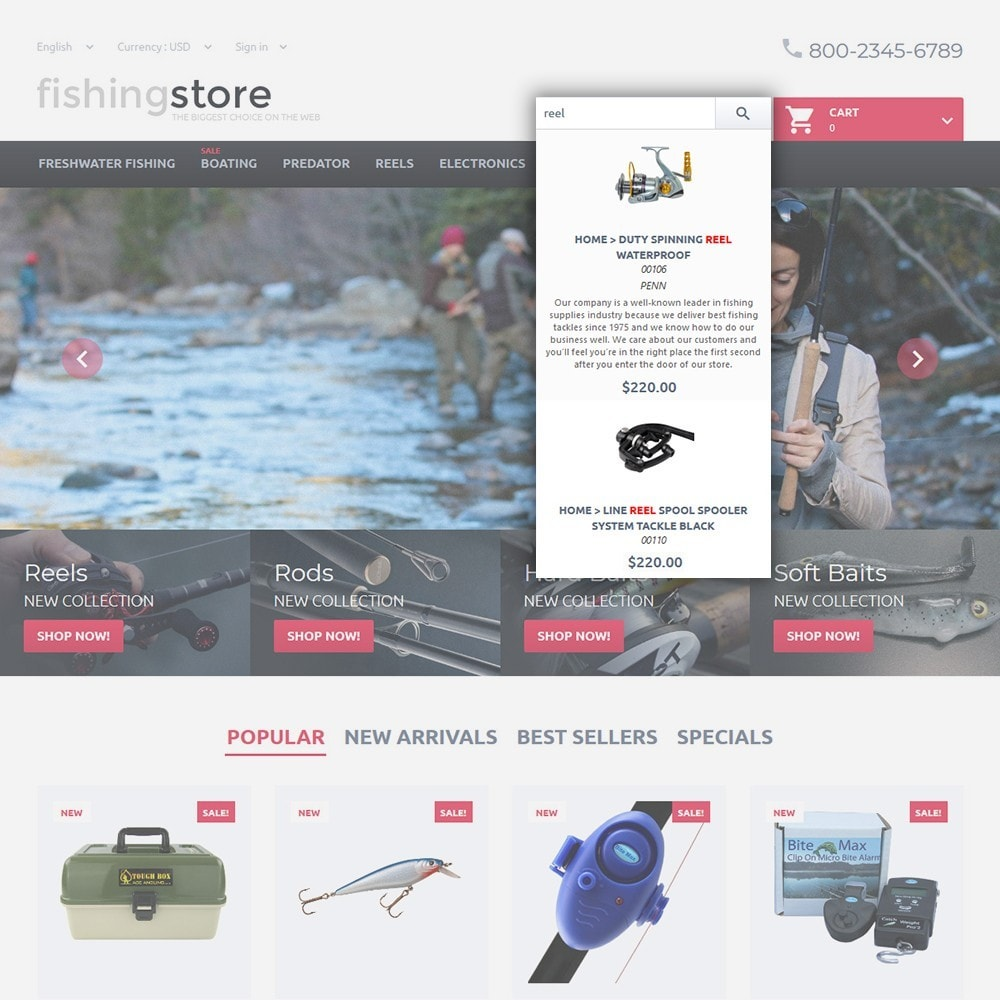 theme - Sport, Loisirs & Voyage - Fishing Store - The Biggest Choice On The Web - 6