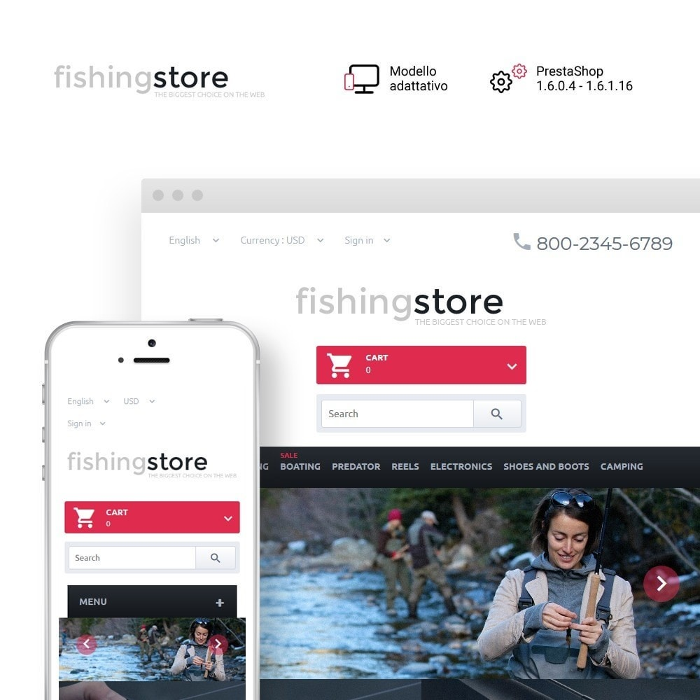 theme - Sport, Attività & Viaggi - Fishing Store - The Biggest Choice On The Web - 1