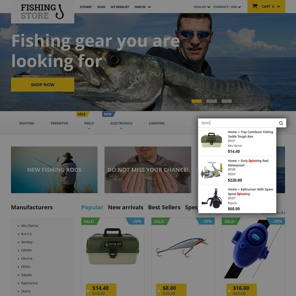 theme - Sports, Activities & Travel - Fishing Store - 6