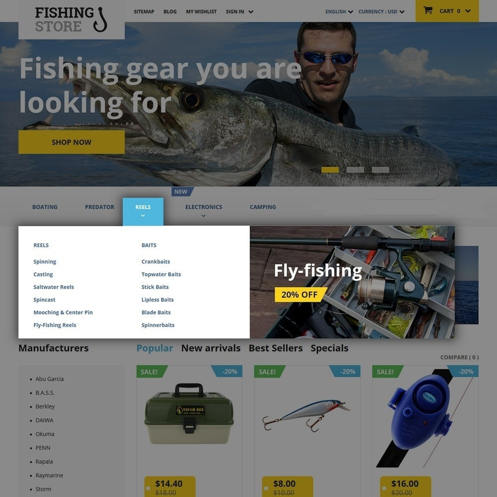 theme - Спорт и Путешествия - Fishing Store - 5