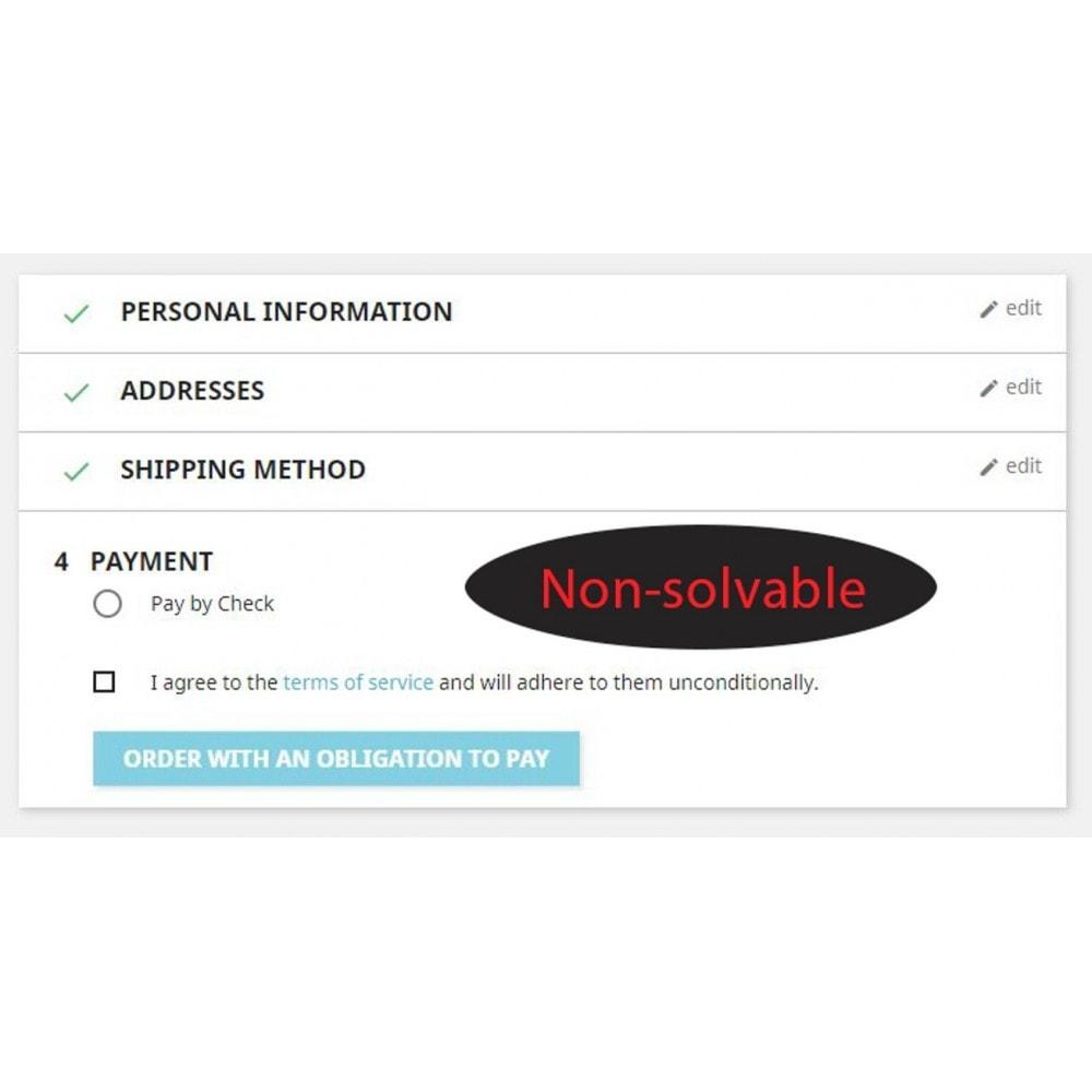 module - Sécurité & Accès - Contrôle de solvabilité suisse - 3