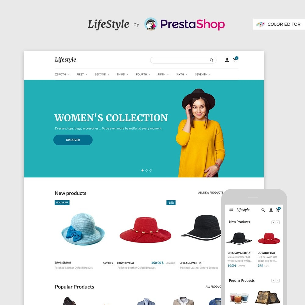 theme - Fashion & Shoes - LifeStyle by PrestaShop - Fashion & Design - 1