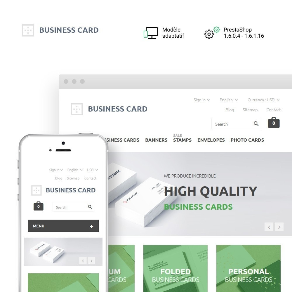 theme - Maison & Jardin - Business Card - 1