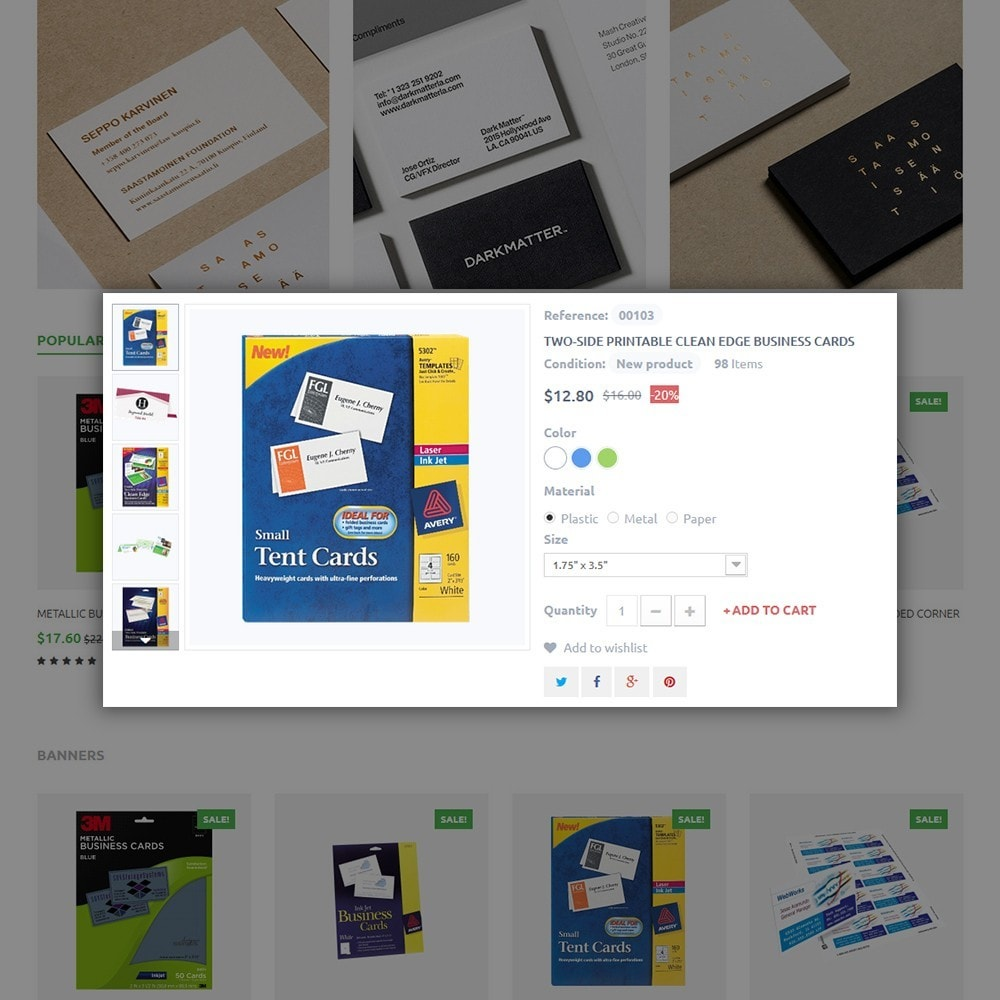 theme - Maison & Jardin - Business Card - 4