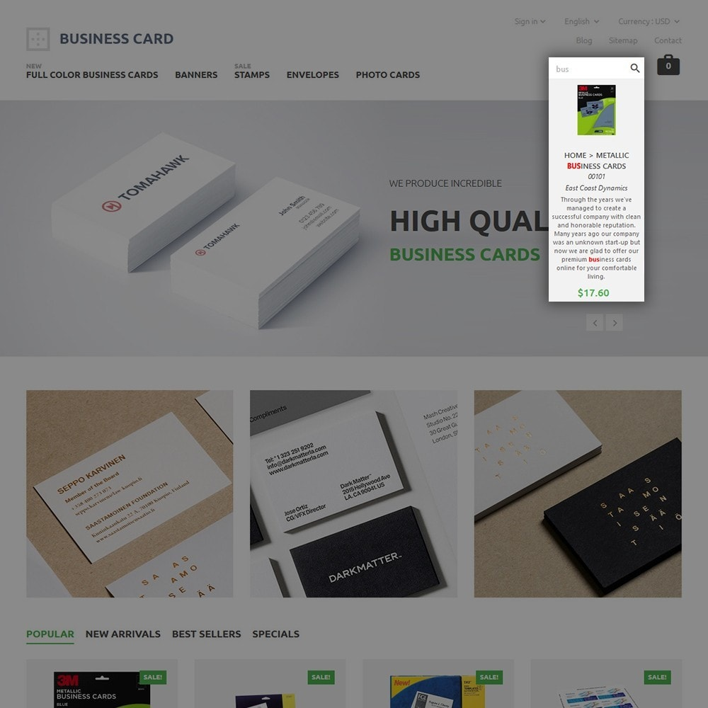 theme - Maison & Jardin - Business Card - 6