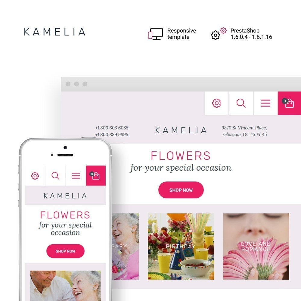 theme - Gifts, Flowers & Celebrations - Kamelia - 1