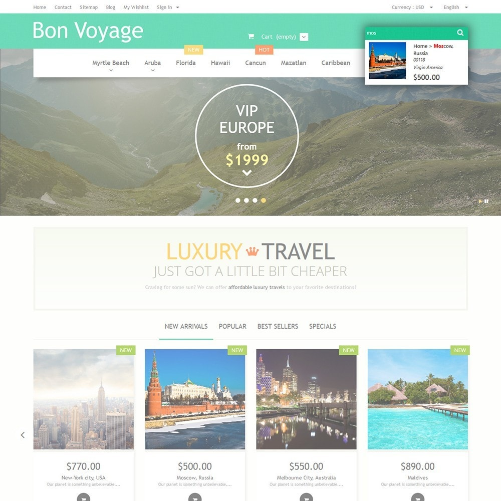 theme - Sports, Activities & Travel - Bon Voyage - Travel Agency - 6