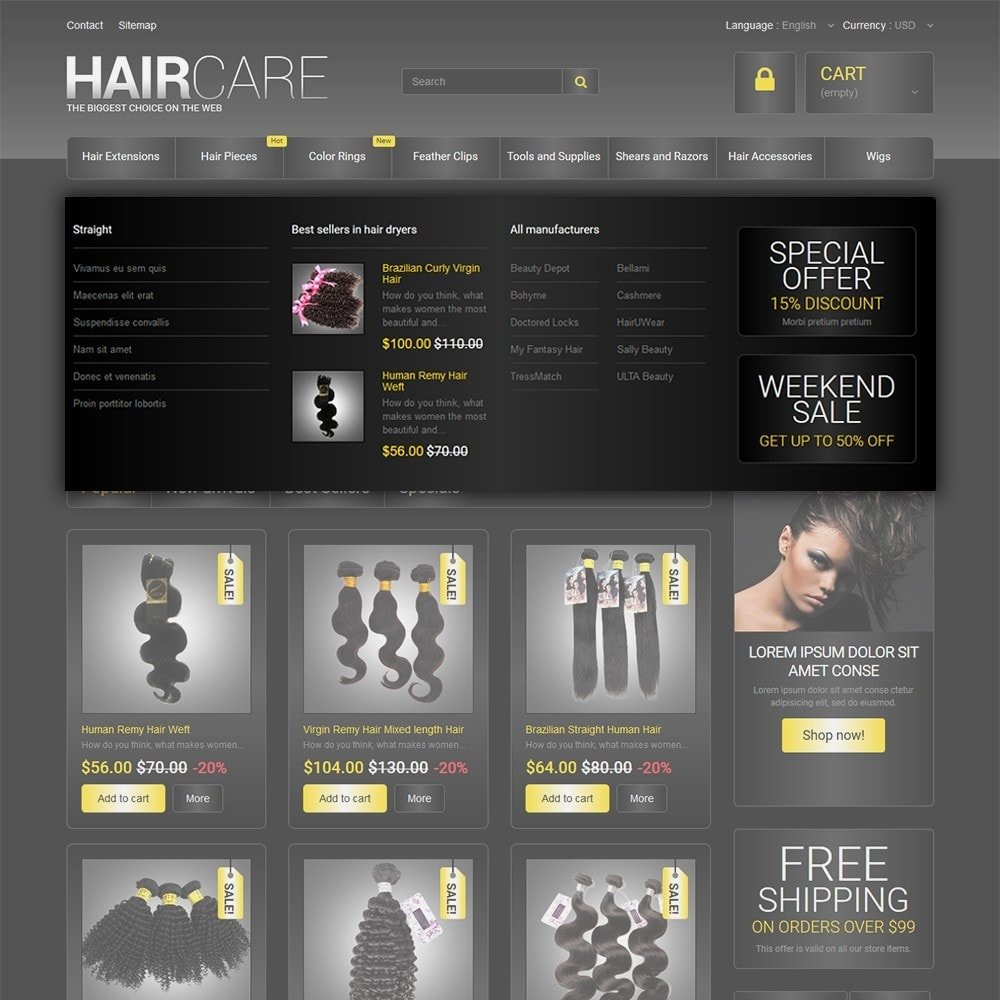 theme - Moda & Calçados - HairCare - The Biggest Choice On The Web - 5