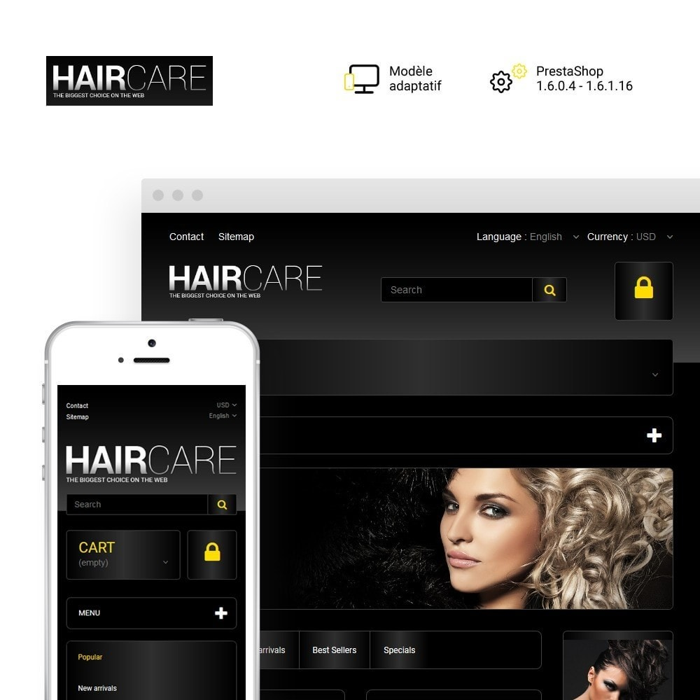 theme - Mode & Chaussures - HairCare - The Biggest Choice On The Web - 1
