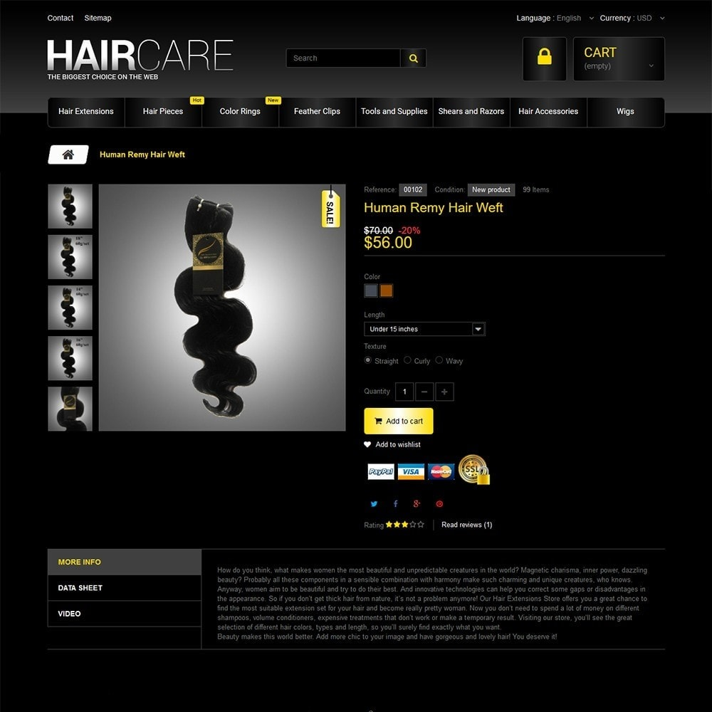 theme - Мода и обувь - HairCare - The Biggest Choice On The Web - 3