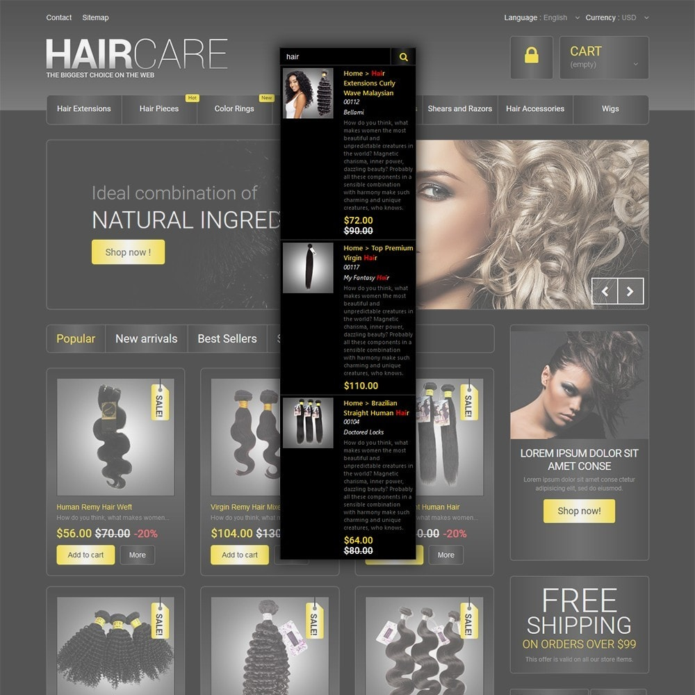 theme - Мода и обувь - HairCare - The Biggest Choice On The Web - 6