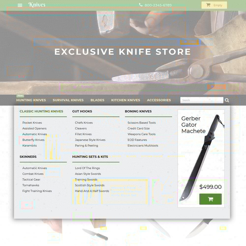 theme - Art & Culture - Knives - Housewares Store - 4