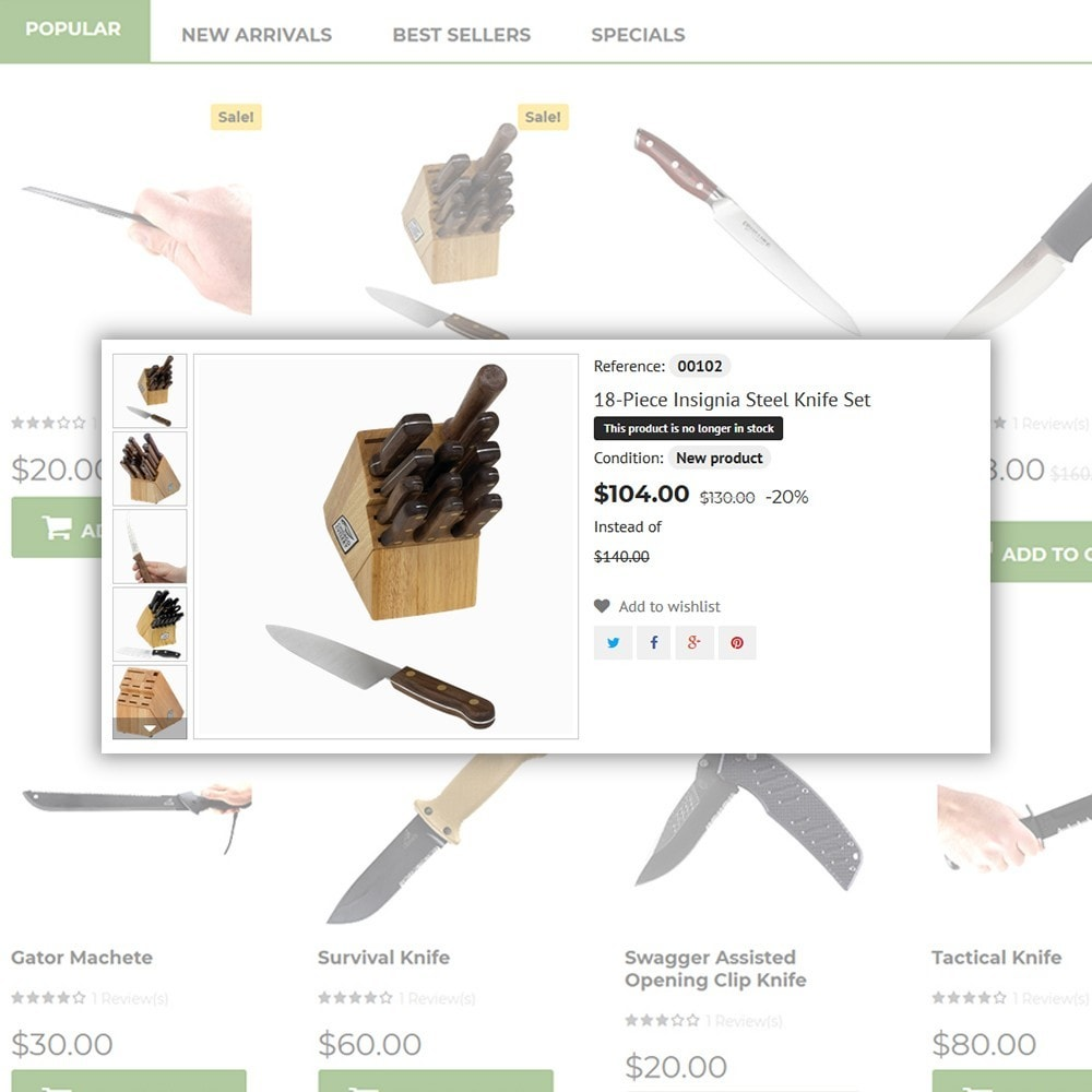 theme - Искусство и Культура - Knives - Housewares Store - 5