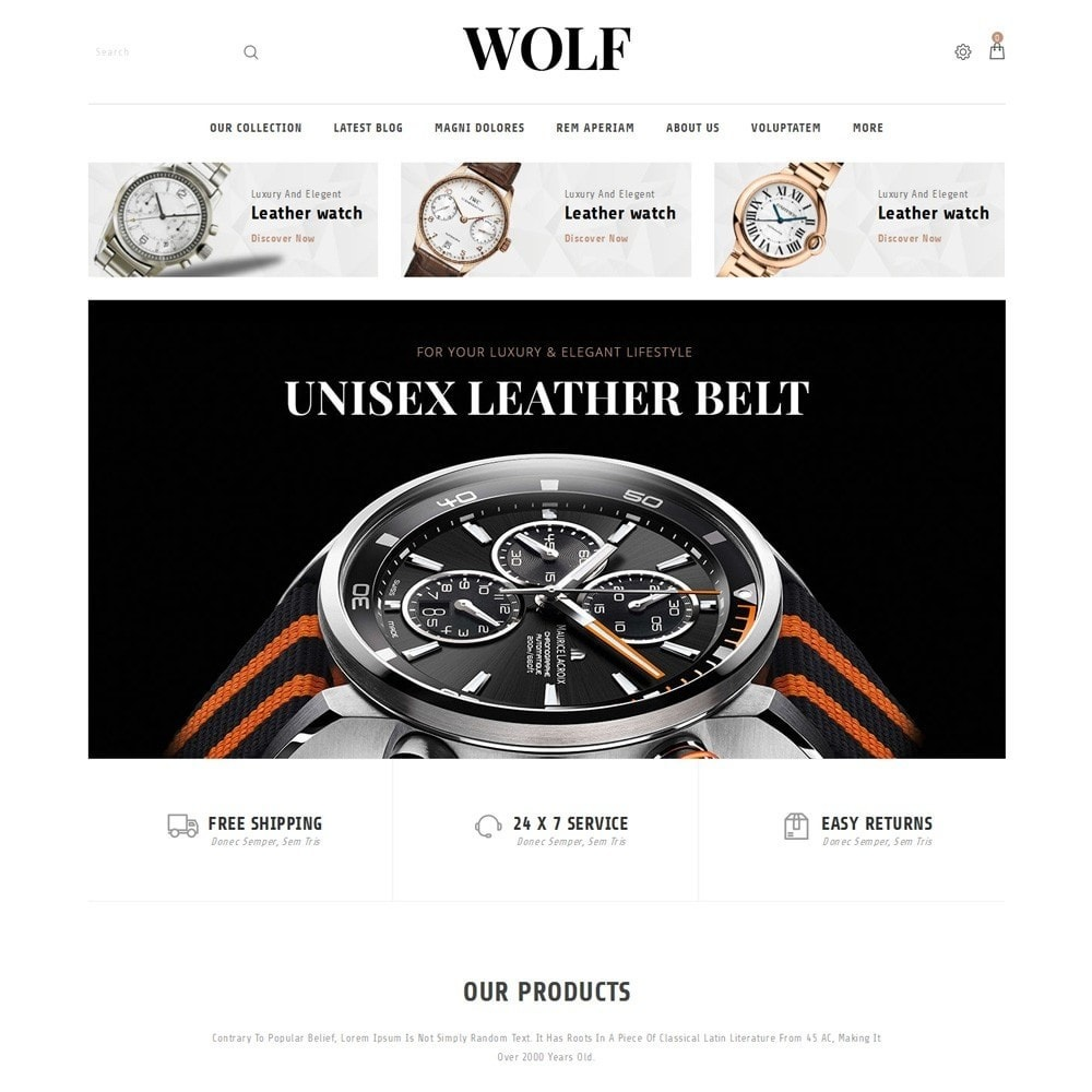 theme - Elektronica & High Tech - Wolf Watch Store - 2