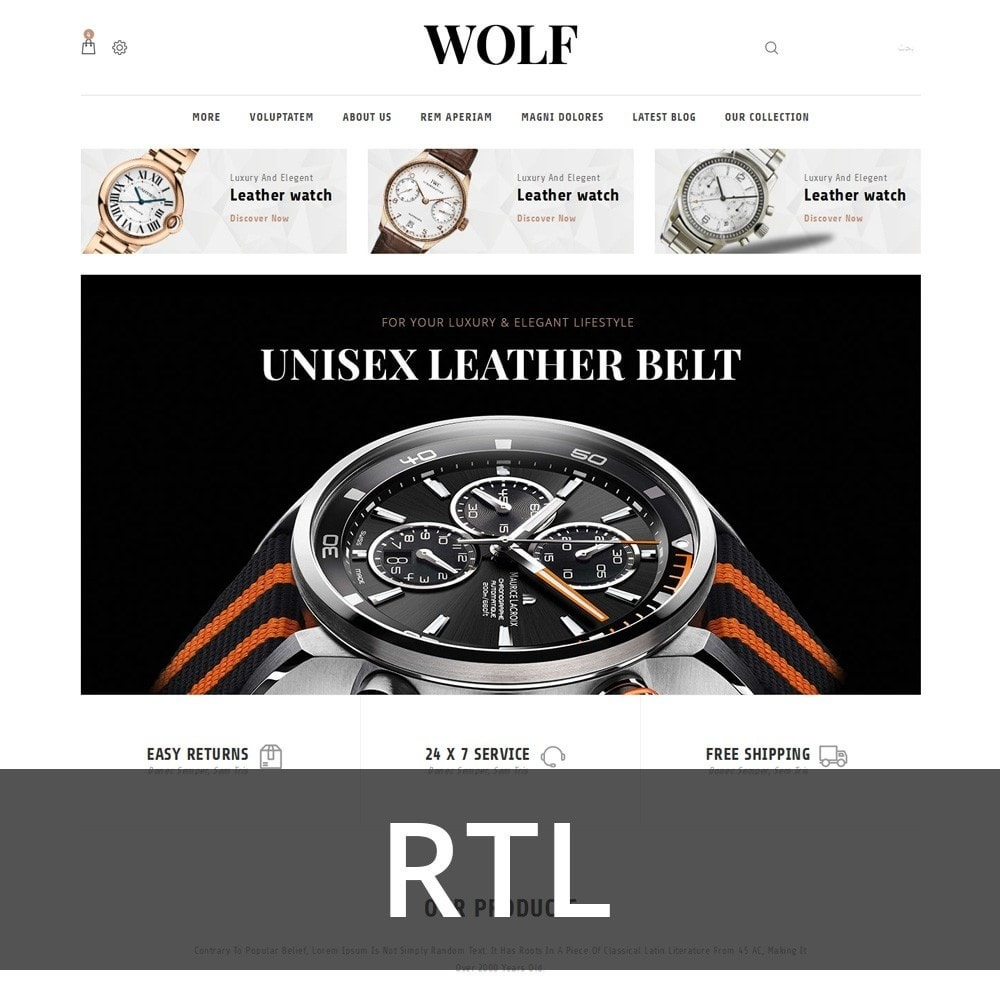 theme - Electronics & Computers - Wolf Watch Store - 3