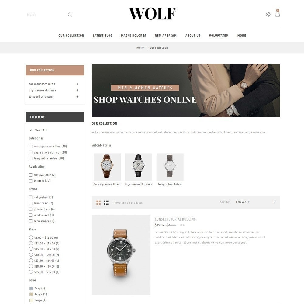 theme - Electronics & Computers - Wolf Watch Store - 5