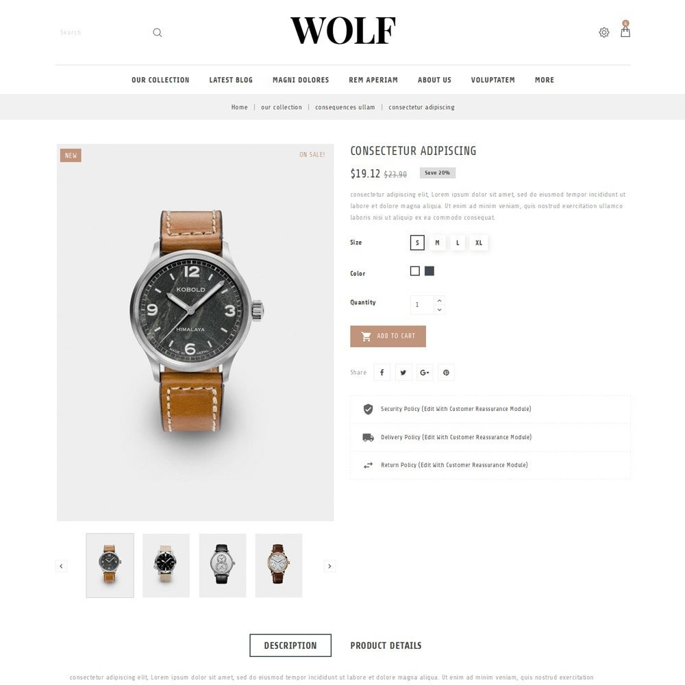 theme - Electronics & Computers - Wolf Watch Store - 6