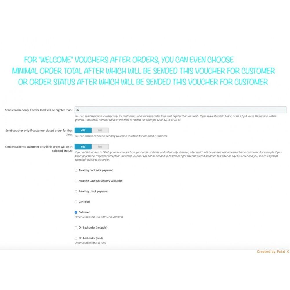 module - Promotion & Geschenke - Auto Gutscheinversand nach Registrierung/Bestellung - 6