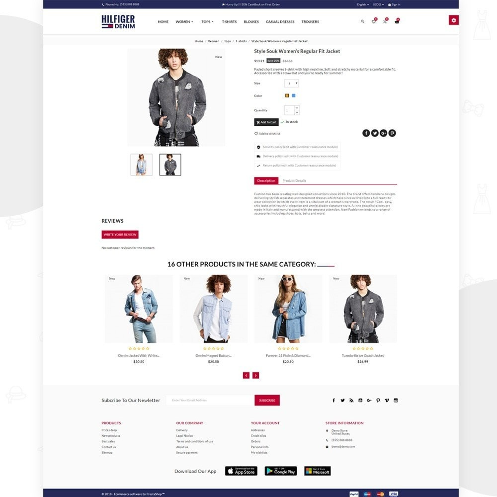 theme - Fashion & Shoes - Hilfiger Denim Fashion Brand Store - 5