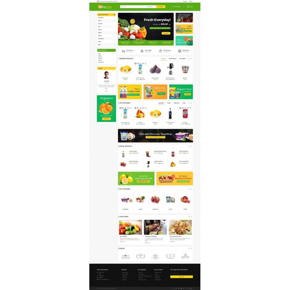 theme - Alimentos & Restaurantes - Mega Grocery Shop - 2