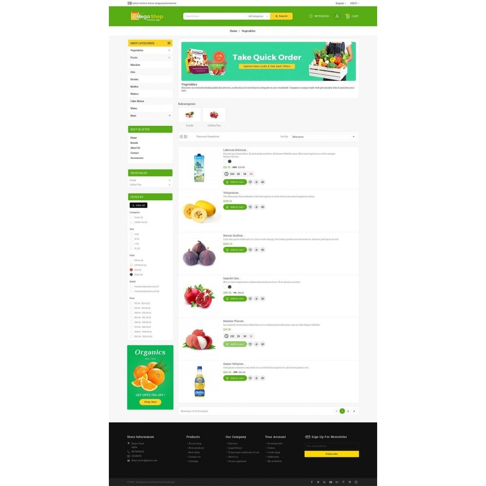 theme - Alimentos & Restaurantes - Mega Grocery Shop - 4
