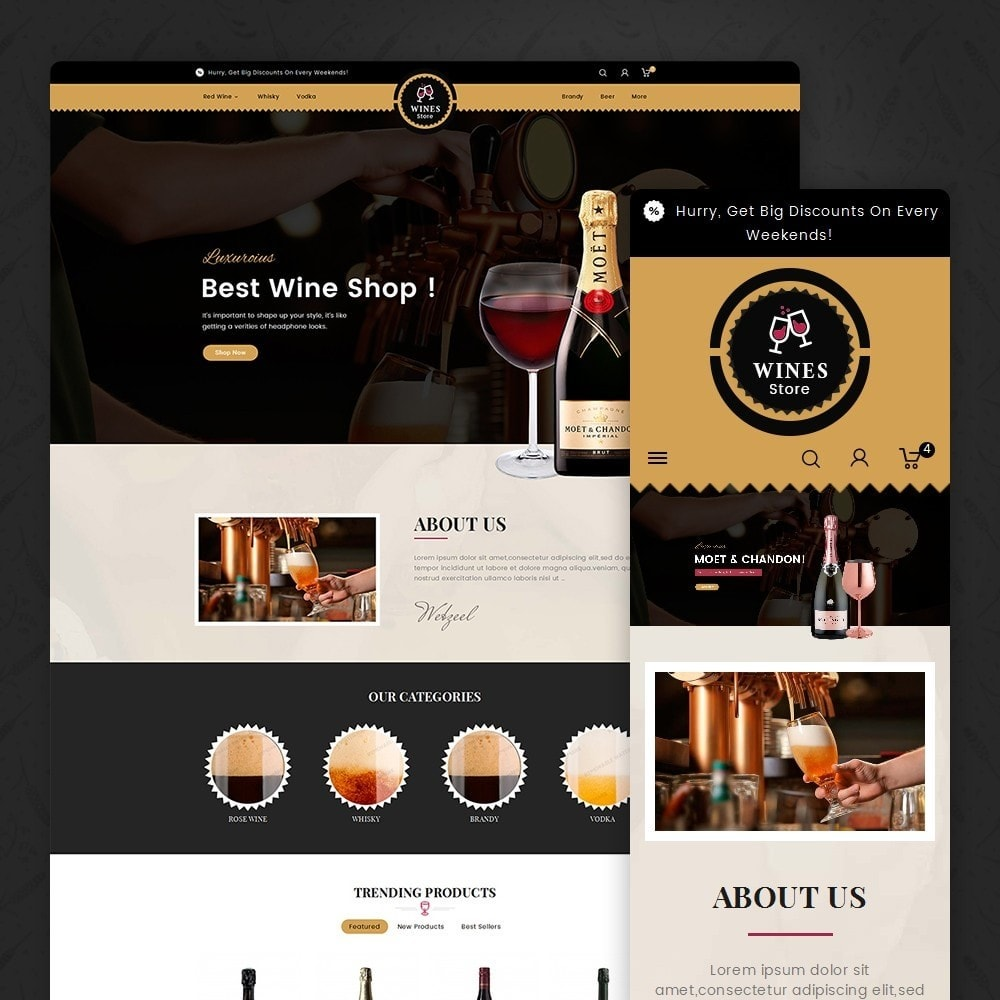 theme - Drink & Tobacco - WineYard Store - 1