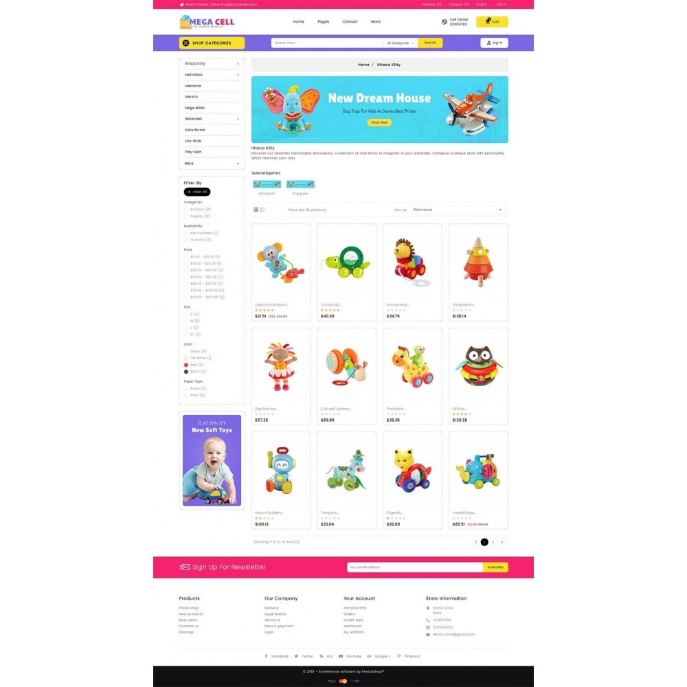 theme - Kinderen & Speelgoed - Mega Cell Kid Toys - 3