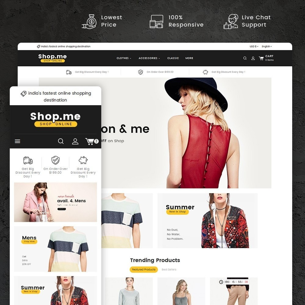 theme - Мода и обувь - Shopme Fashion Apparels - 1