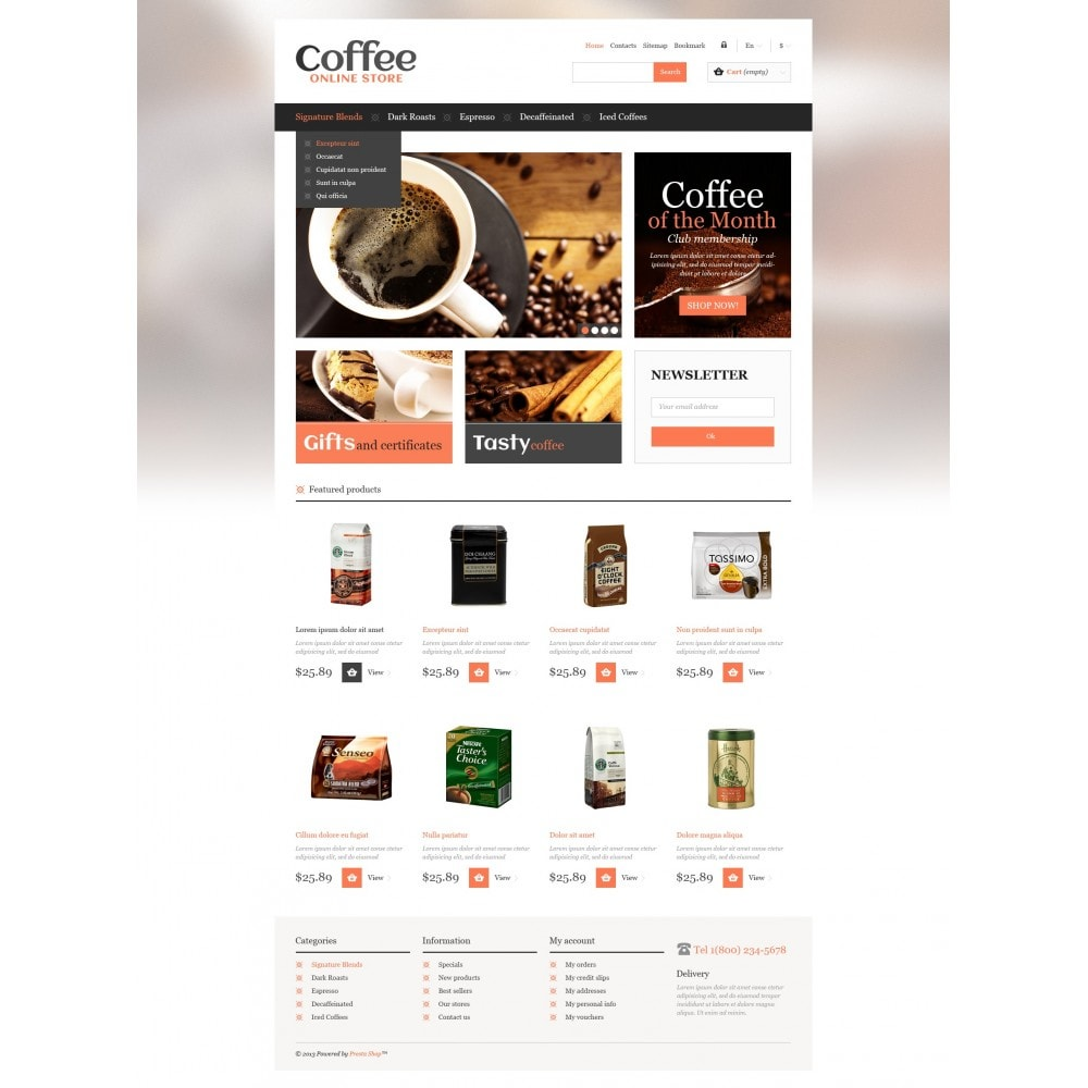 theme - Food & Restaurant - Responsive Coffee Store - 5