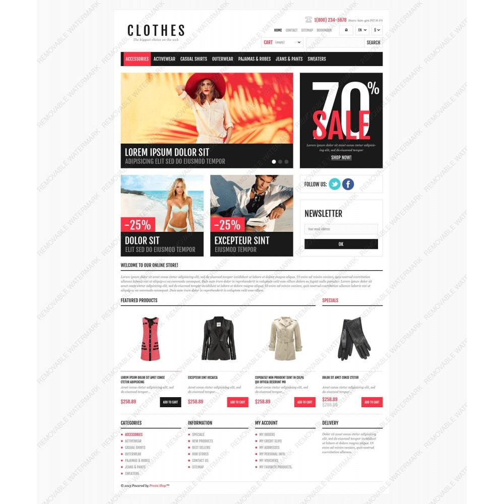 theme - Fashion & Shoes - Responsive Clothing Shop - 5