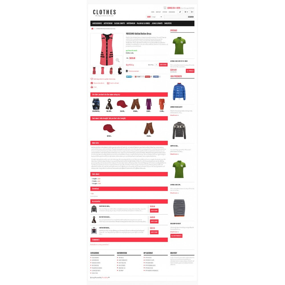 theme - Mode & Chaussures - Responsive Clothing Shop - 6