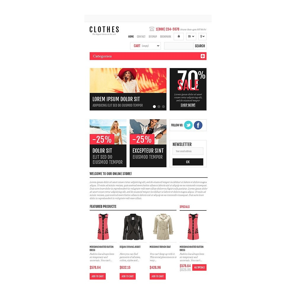 theme - Fashion & Shoes - Responsive Clothing Shop - 7