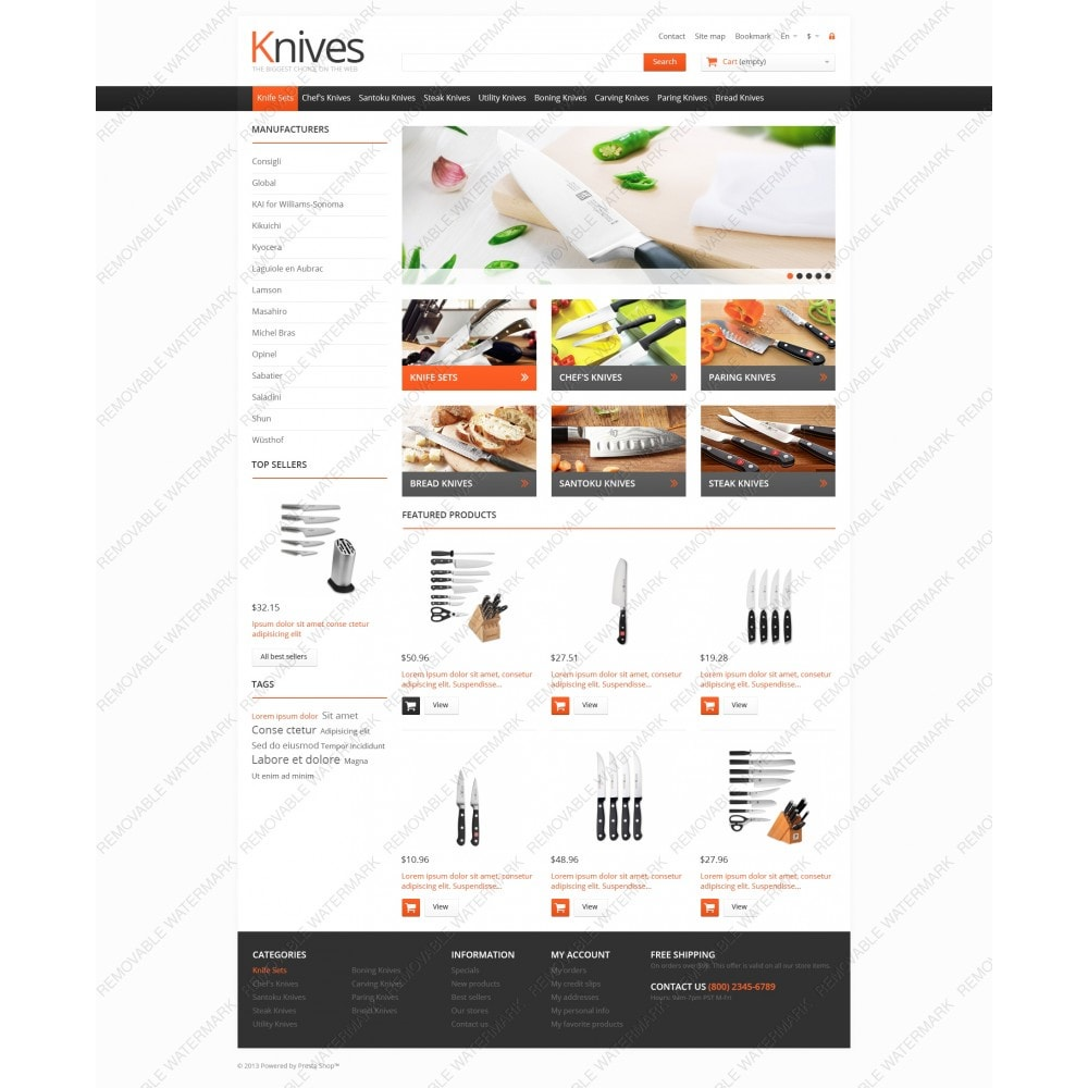 theme - Arte & Cultura - Knives for Easy Cooking - 3