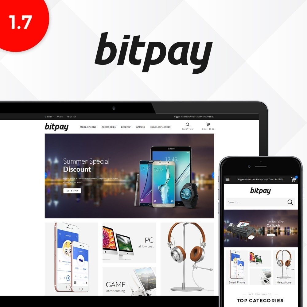 theme - Elektronica & High Tech - Bitpay Electronics Store - 1