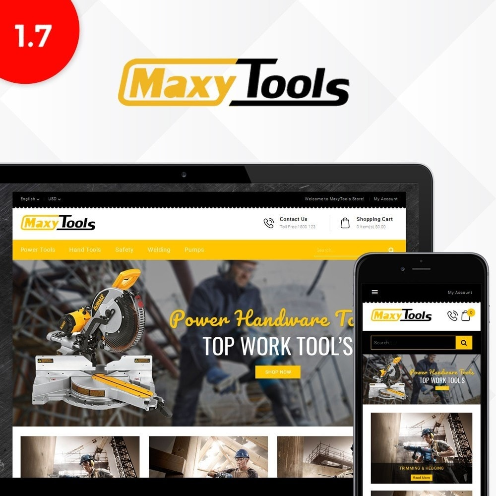 theme - Automotive & Cars - MaxyTool Store - 1
