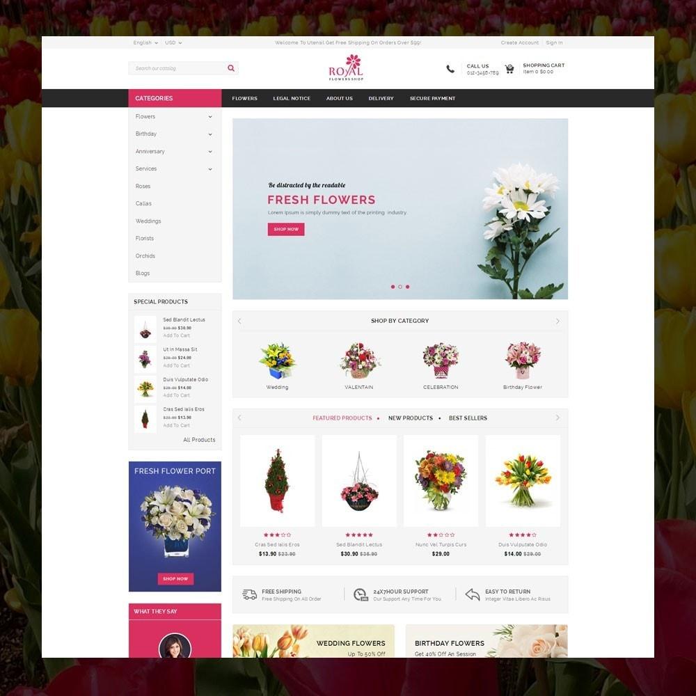 theme - Подарки, Цветы и праздничные товары - Royal - Flower Store - 2