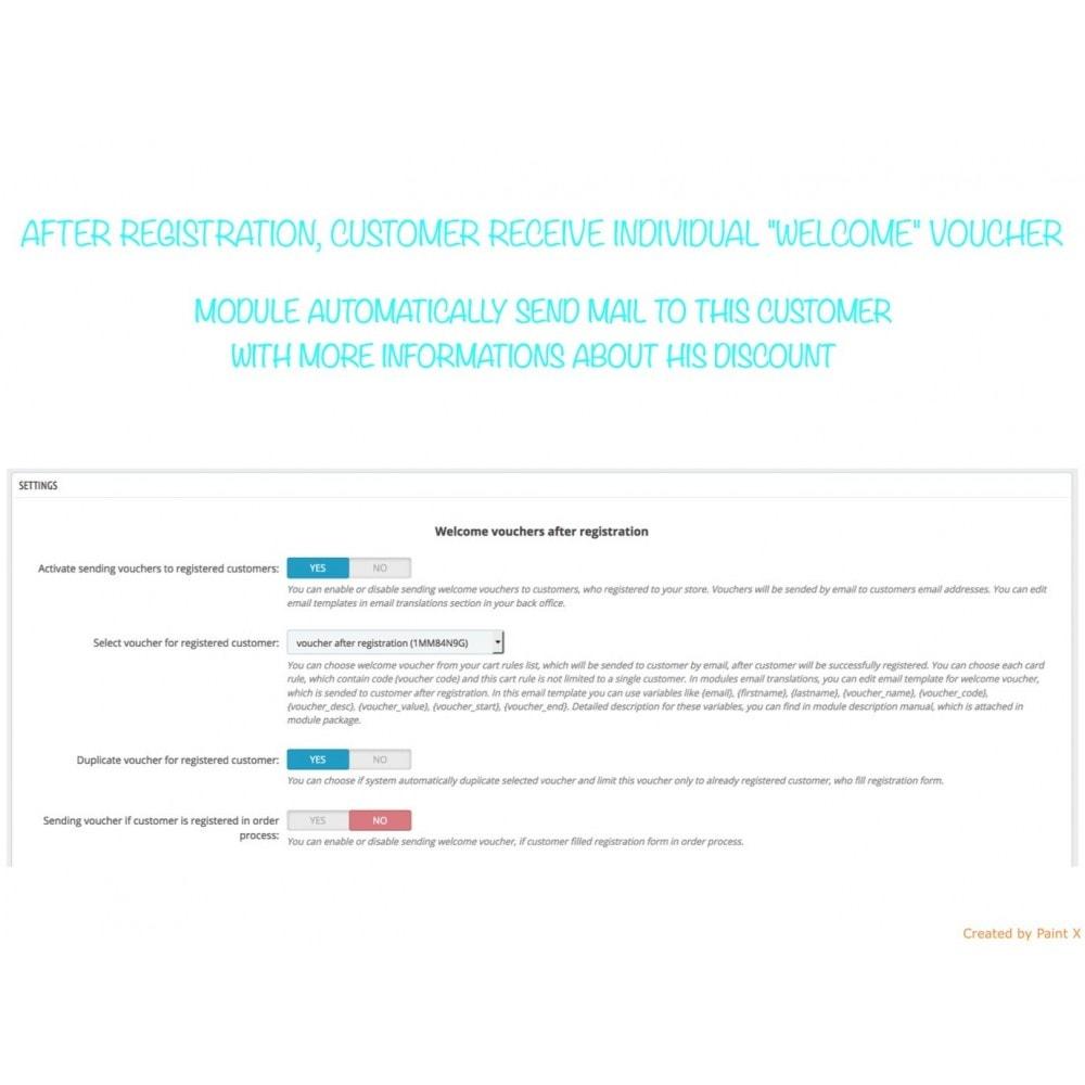 module - Promotions & Cadeaux - Voucher automatique après l'inscription ou la commande - 1