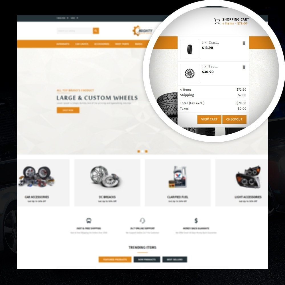 theme - Auto's & Motoren - Mighty - Autoparts Shop - 6
