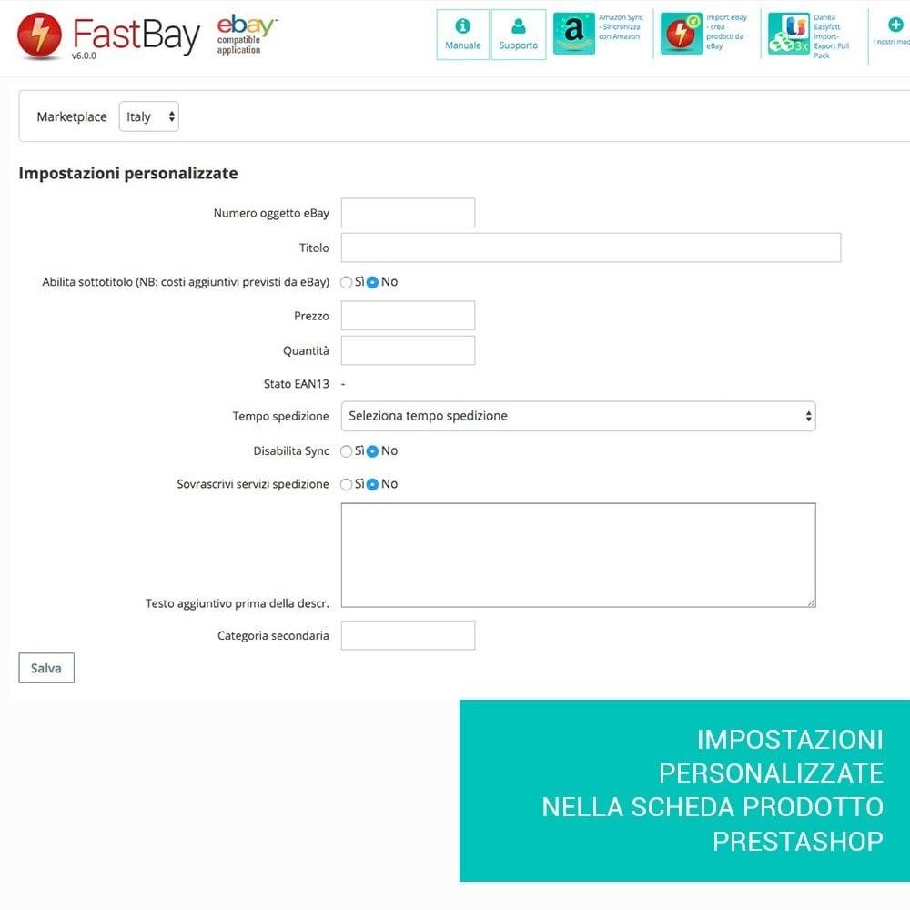 module - Marketplace - Fastbay - sincronizzazione con eBay Marketplace - 14