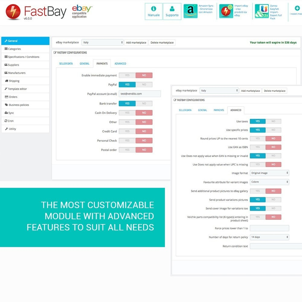 module - Marketplaces - FastBay - eBay Marketplace synchronisation - 4