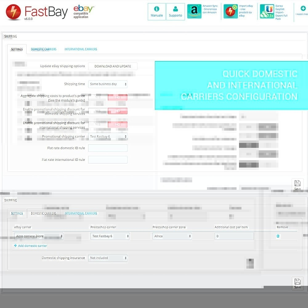 module - Marketplaces - FastBay - eBay Marketplace synchronisation - 8