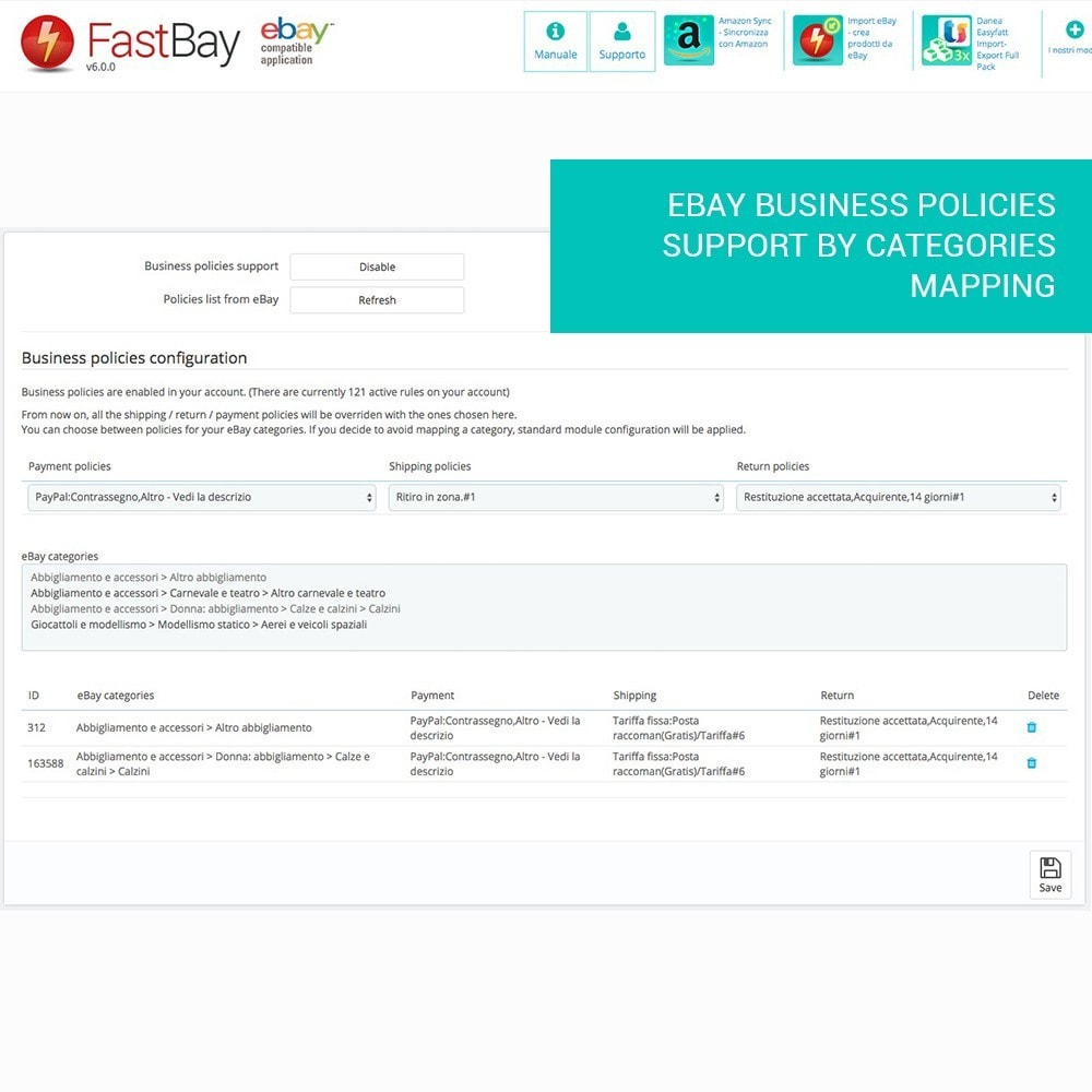 module - Marketplaces - FastBay - eBay Marketplace synchronisation - 13