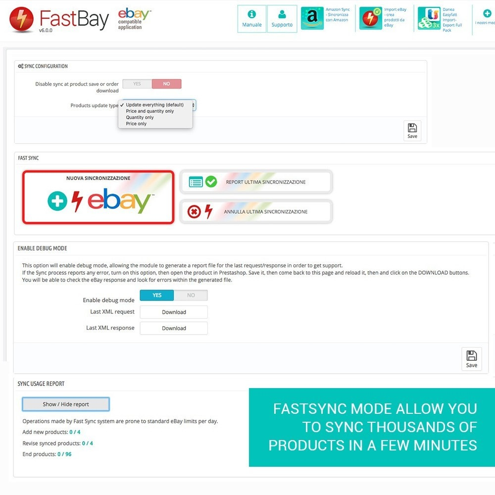 module - Marketplaces - FastBay - eBay Marketplace synchronisation - 14
