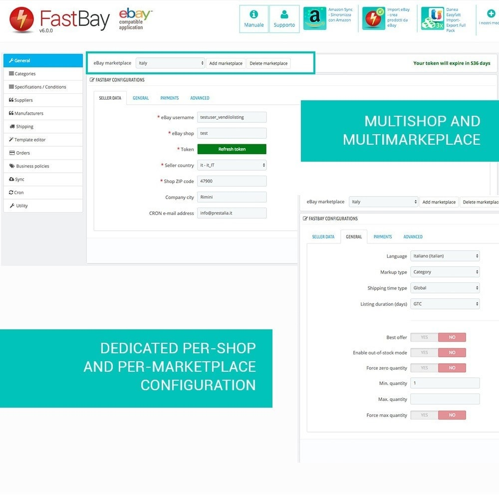 module - Revenda (marketplace) - FastBay - eBay Marketplace synchronization - 3