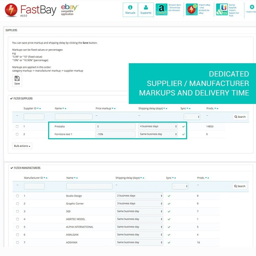 module - Revenda (marketplace) - FastBay - eBay Marketplace synchronization - 6