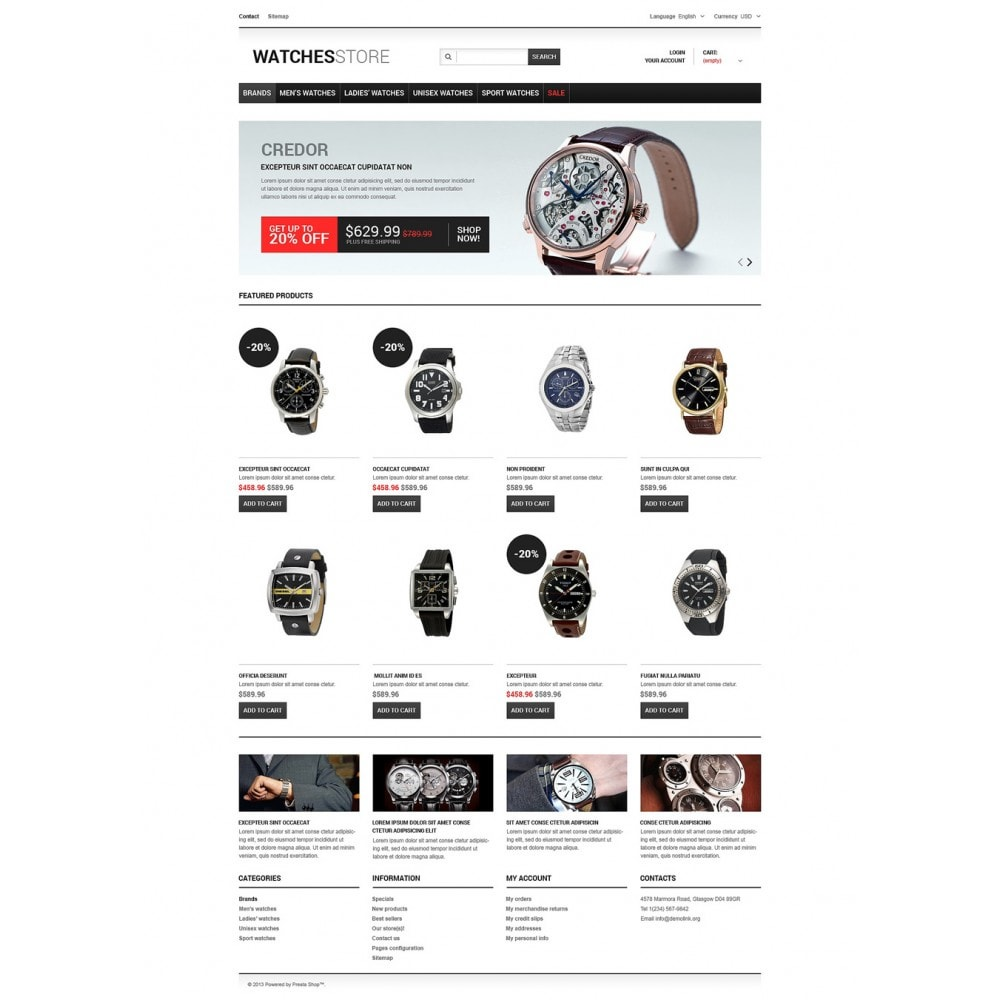 theme - Fashion & Shoes - Watches Shop - 2