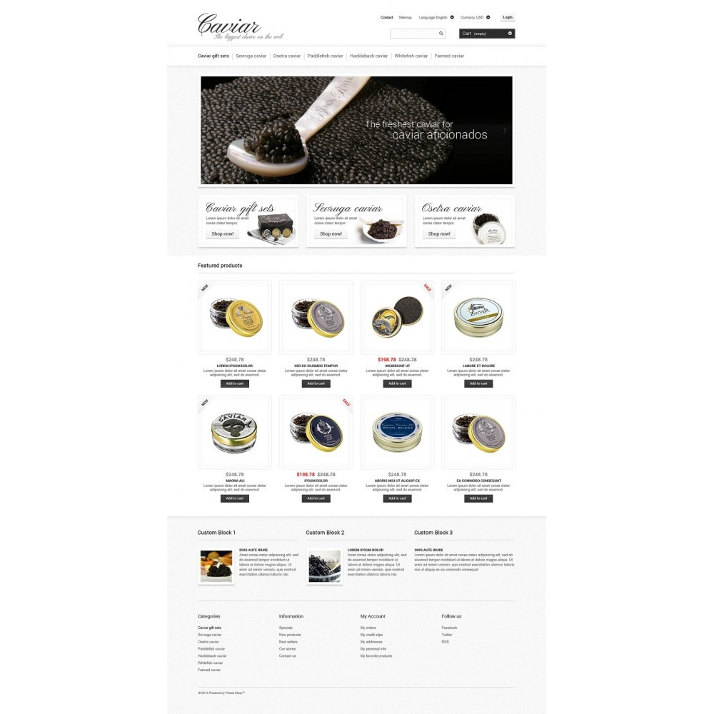 theme - Eten & Restaurant - Caviar Online Store - 2