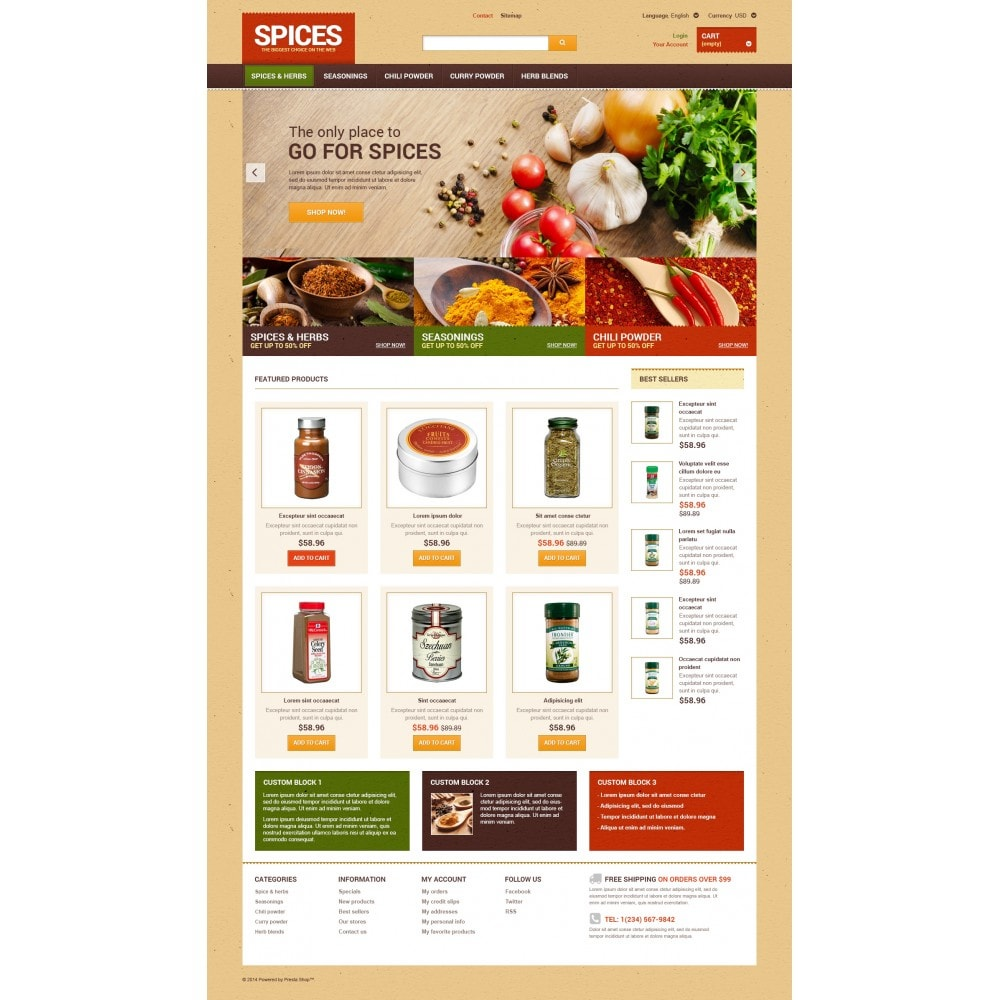 theme - Lebensmittel & Restaurants - Spice shop - 4