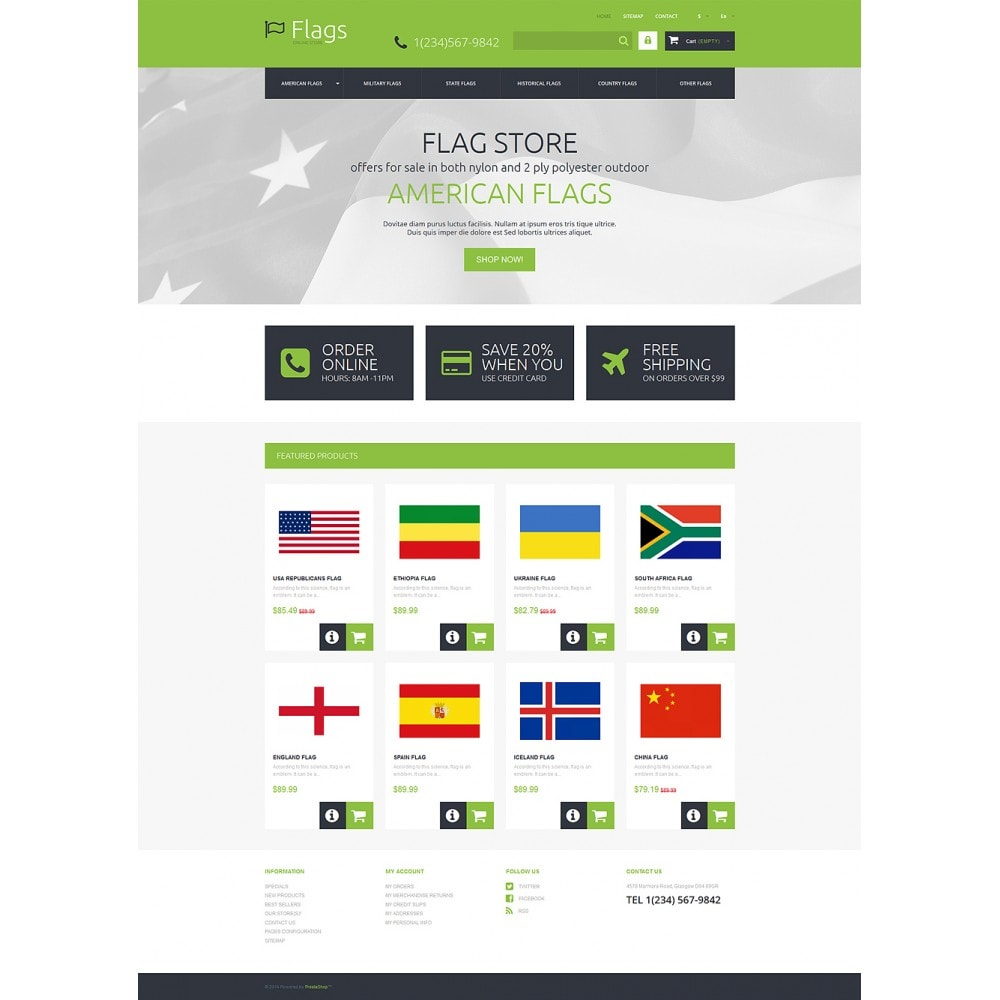 theme - PrestaShop thema's - Flags for True Patriots - 2
