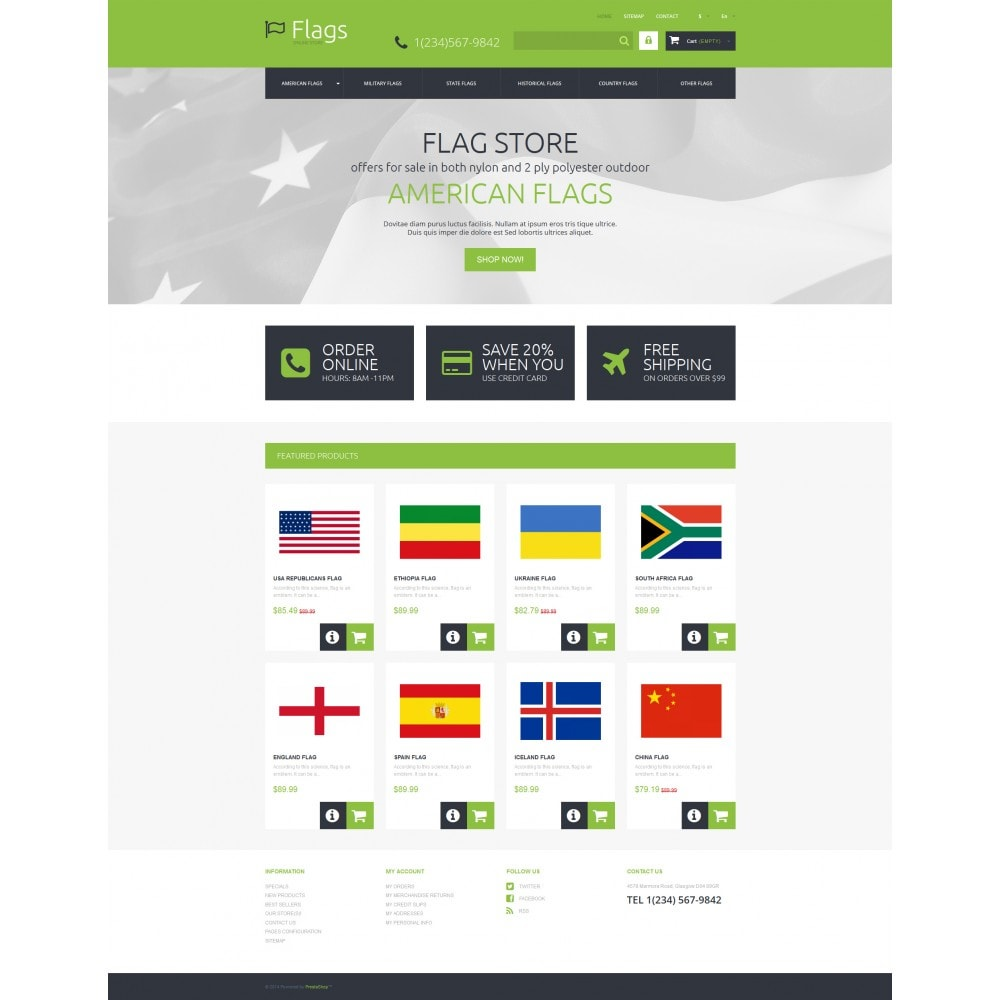 theme - PrestaShop thema's - Flags for True Patriots - 4